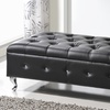 End-of-Bed Faux-Crystal Tufted Bench