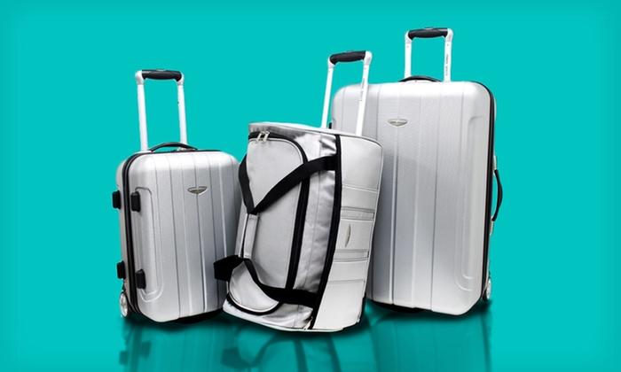 3fdc4218f 3-Piece Hard-Shell Luggage Set | Groupon Goods