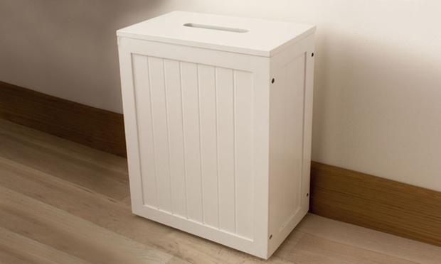 Meuble ou coffre de rangement wc salle de bains groupon for Meuble de rangement toilettes ou salle de bains