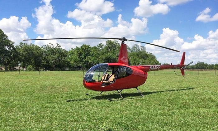 National Helicopter Solutions - Sugar Land: 20-Minute Aerial Tour of Houston for Up to Three from National Helicopter Solutions (Up to 33% Off)