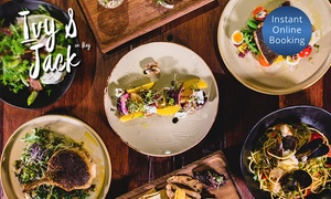 Ivy & Jack: Six-Dish Tapas Board with Wine for Two ($39), Four ($75), or Eight People ($145) at Ivy and Jack, CBD (Up to $220 Value)