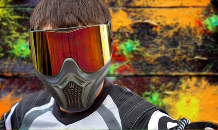 Hopper or Player Paintball Packages for Two or Four Players at First Strike Paintball (Up to 54% Off)