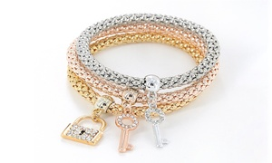 (Bijou)  Bracelet Cherish orné cristaux Swarovski® -78% réduction