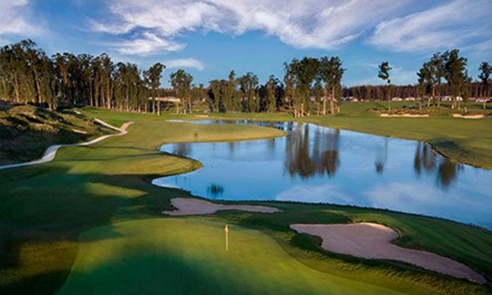 Monarch Dunes - Woodlands: Four Private Golf Lessons or One Lesson with 12-Hole Round for Two Plus Cart at Monarch Dunes Golf Club (Up to 71% Off)