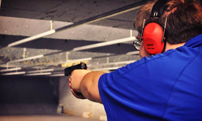 Range USA, Inc. - Multiple Locations: Shooting-Range Outing with Handgun Rental for One or Two at Range USA (Up to 62% Off)