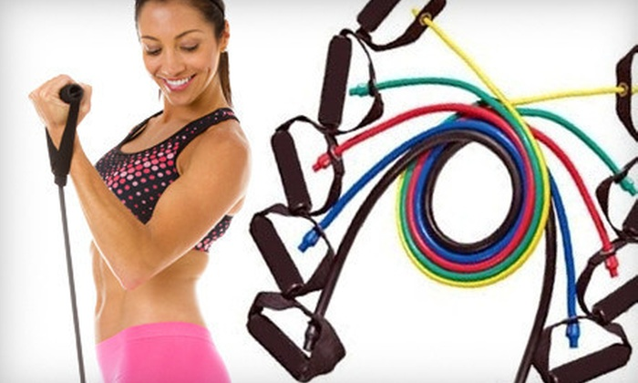 ProSource Resistance-Band Set: $19 for ProSource Resistance-Band Set with 5 Bands, Door Anchor, Carrying Case, and Training Manual ($39.99 List Price)
