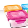 4-Pack of Wean Green Glass Food-Storage Containers