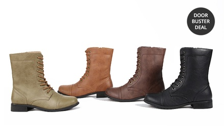 Carrini Women's Combat Boots. Multiple Colors Available. Free Returns.
