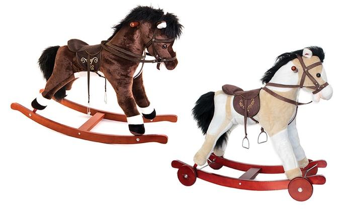 Cavallo A Dondolo Con Ruote.Cavalli A Dondolo Decar Groupon Goods