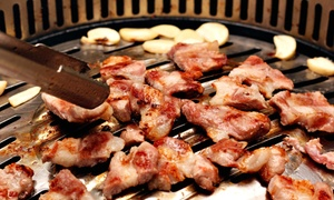 Young Dong Garden: Korean Barbecue for Two with Bottle of Wine on a Weekday or the Weekend at Young Dong Garden (41%)