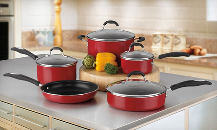 Cuisinart Nonstick Cookware Set: $85 for a Nine-Piece Cuisinart Nonstick Cookware Set in Black or Red ($220 List Price). Free Shipping.