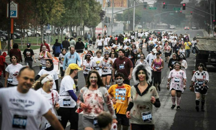 Run with the Zombies - Kelley Park: Run with the Zombies 5K Race for One or Two on Saturday, October 25 (Up to 44% Off)