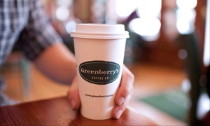 Greenberry's Coffee Co.: Two Lunch Entrees and Small Drinks, $15 for $25 Worth of Café Cuisine at Greenberry's Coffee Co.
