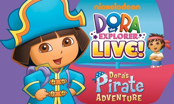 """""""Dora the Explorer Live! Dora's Pirate Adventure"""" - Randolph Theatre: """"Dora the Explorer Live! Dora's Pirate Adventure"""" at Randolph Theatre on April 12–May 4 (Up to 50% Off)"""