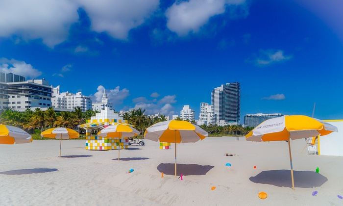 Esteban's Place Beach - South Beach: One, Two, or Four Chair plus Umbrella Rentals for One Day at Esteban's Place Beach (Up to 41% Off)