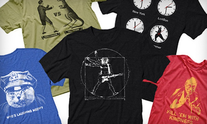 Headline Shirts: Two or Four Humorous T-shirts Including Shipping from Headline Shirts (Up to 55% Off)