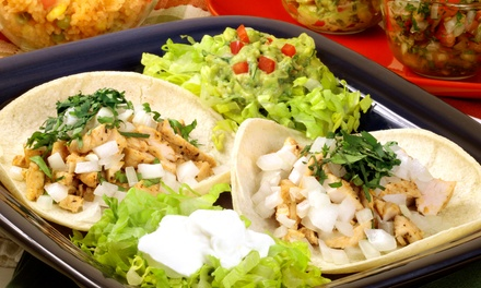 Mexican Food at Los Tacos (50% Off). Two Options Available.