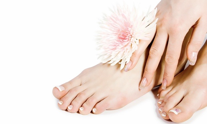 Hair Symmetry - Franklin Park: $30 for a Manicure and Spa Pedicure for New Clients at Hair Symmetry ($65 Value)