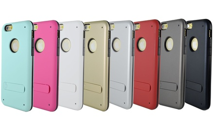 Dual-Layer Hybrid Kickstand Case for iPhone 6