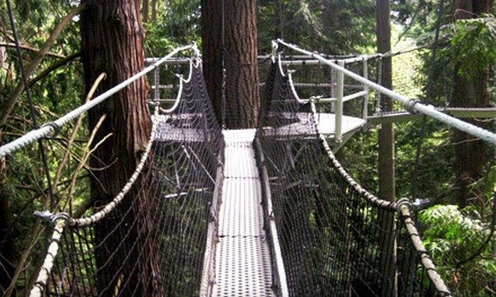 UBC Botanical Garden - Vancouver: Admission to the Greenheart Canopy Walkway for One Person or a Family at UBC Botanical Garden (Up to 51% Off)