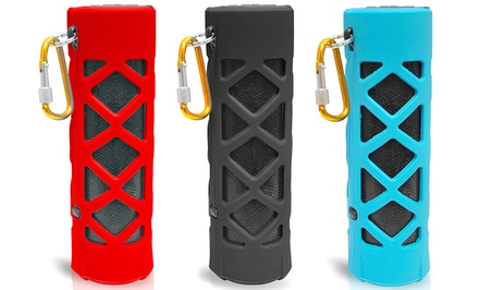 Pyle Audio Bluetooth Water Resistant Flashlight Speaker with Mic and Radio