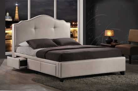 Armeena Upholstered Platform Bed with Storage Drawers from $499.99–$549.99