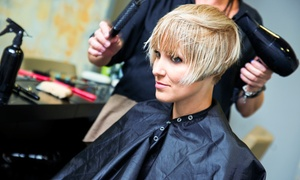 Jenny B Salon: Haircut Package with Style and Optional Partial Highlights at Jenny B Salon (52% Off)