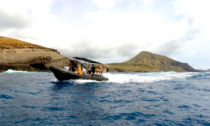 Hawaiian Surf Adventures - Hawaii Kai: Adventure Boat Tour for Two, Four, for Six from Hawaiian Surf Adventures (Up to 56% Off)