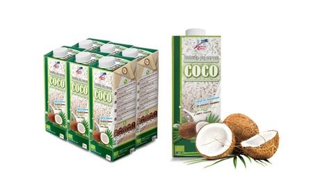 Pack de 6 bebidas ecológicas de arroz con coco