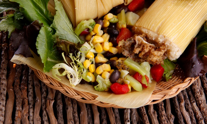 Lucy's Tamale Factory - Alum Rock: 50- or 75-Person Tamale Tray with Beans, Rice, and Chips and Salsa from Lucy's Tamale Factory (Up to 61% Off)