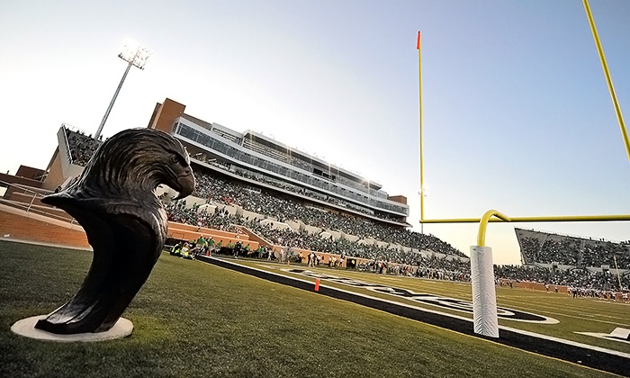 University of North Texas Mean Green Football - Apogee Stadium: One Ticket to a North Texas Football Game at Apogee Stadium (Up to 53% Off). Four Games and Two Seating Options.