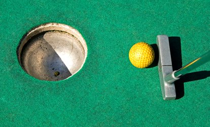 Four Rounds of Mini <strong>Golf</strong> with Option for Jumbo Driving Range Bucket at Elkton <strong>Golf</strong> and Batting Center (50% Off)