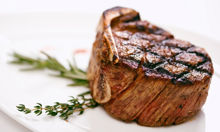 The Vintage Steakhouse - Little Hollywood: Four-Course Select-Menu Dinner for Two or Four at The Vintage Steakhouse (49% Off)