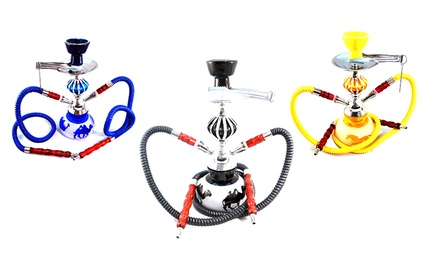 Hookah Town Double Hose Frosted Zen Hookah. Multiple Styles Available.
