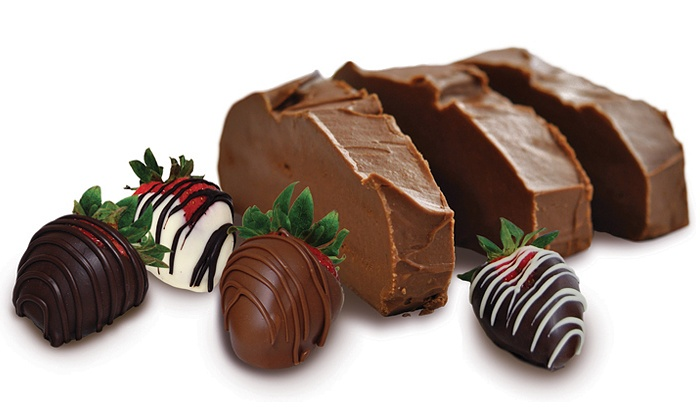 Kilwins - Hyde Park: Pound of Fudge or  Dozen Chocolate-Covered Strawberries at Kilwins (57% Off)