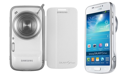 groupon daily deal - Samsung Galaxy S4 Zoom 16MP GSM Unlocked Smartphone/Camera. Free Shipping and Returns.