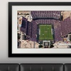 "16""x24"" NCAA Football Stadium Print with Matting in 23""x31"" Frame"