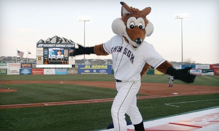 Colorado Springs Sky Sox Baseball - Stetson Hills: Colorado Springs Sky Sox Game for Four with One or Two Kids Club Memberships at Security Service Field (Up to 55% Off)