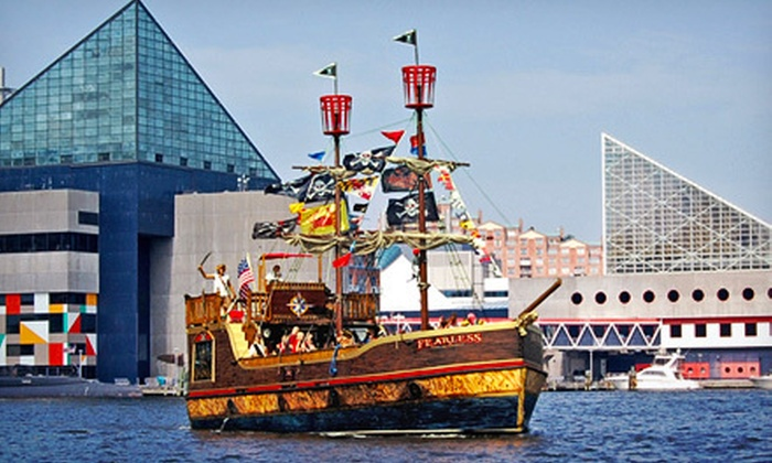 Urban Pirates - Upper Fells Point: Family Adventure Cruise for Four or Adult Bring-Your-Own-Grog Cruise for Two from Urban Pirates (Half Off)