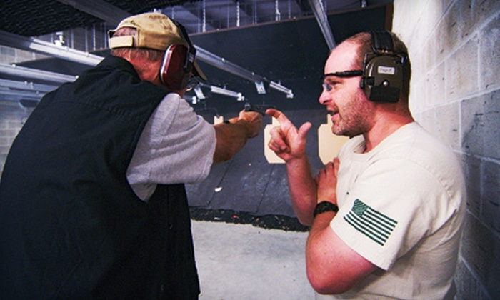 Spring Guns and Ammo - Spring: Shooting-Range Package for One, Two, or Four, or Women's Training Course at Spring Guns and Ammo (Up to 57% Off)