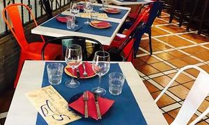 Sombrero Azul: Menú para 2 con cocktail, entrante, principal, postre y bebida o botella de vino desde 24,90 € en Sombrero Azul