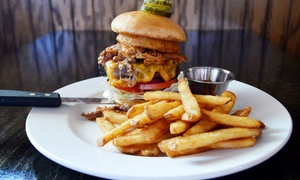 Whiskey Rose Chandler: Burgers and Barbecue to Dine-In or To-Go, or Beers and Wings for Four at Whiskey Rose (Up to 47% Off)