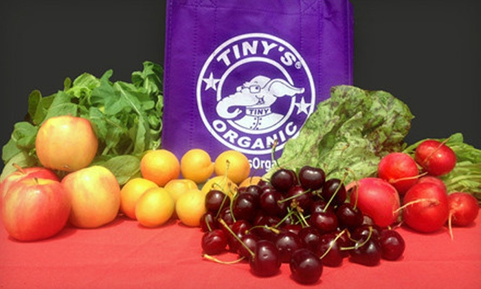 Tiny's Organic: Three Mini Bags or All-Fruit Bags of Organic Produce from Tiny's Organic (Half Off)