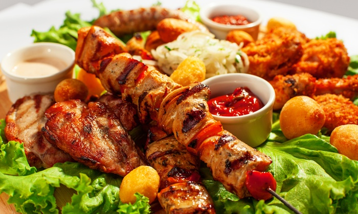 Gengiz Khan Turkish Grill - Ballast Point: Cold Mixed Appetizer Plate and Drinks for Two or Four at Gengiz Khan Turkish Grill (Up to 48% Off)