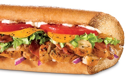 Two Small Subs, Punch Card for Five Small Subs, or Catering Trays at Quiznos (Up to 52% Off)