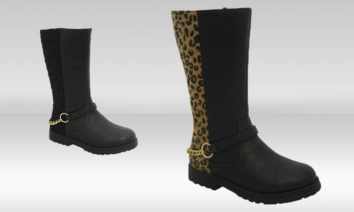 Yoki Kids Claudia Girls' Boots: Yoki Kids Claudia Girls' Boots in Black or Leopard. Free Returns.
