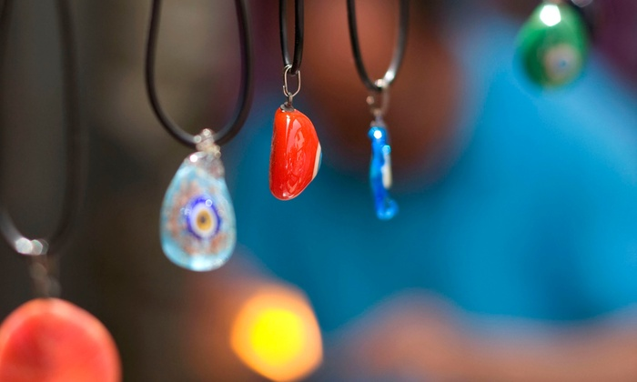 Denault Studios - Maynard: 1.5-Hour Fused-Glass Jewelry Class for One or Two at Denault Studios (Up to 57% Off)