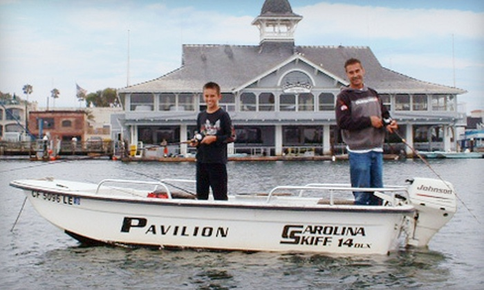 Newport Harbor Boat Rentals - Balboa Peninsula Point: $49 for a Half-Day Fishing Trip with Boat Rental and Frozen Bait from Newport Harbor Boat Rentals ($105 Value)
