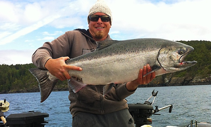 Good Time Dave's Fishing Charters - Victoria: Half-Day Salmon-Fishing Charter for Two or Four from Good Time Dave's Fishing Charters (Up to 51% Off)
