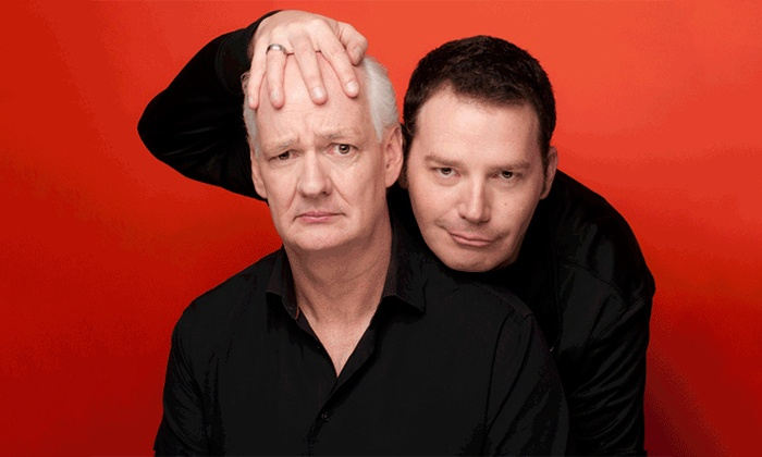"""Colin Mochrie & Brad Sherwood - Tarrytown Music Hall: Colin Mochrie & Brad Sherwood of """"Whose Line Is It Anyway?"""" at Tarrytown Music Hall on Sept. 28 (Up to 49% Off)"""